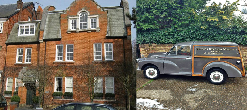 Images of exterior and interior of houses-worked-on by Windsor Box Sash Window Company Berkshire